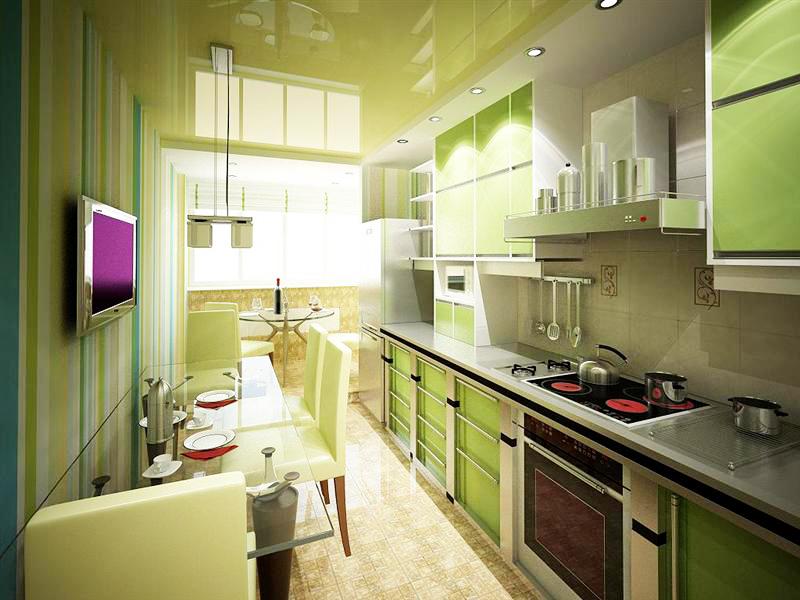 Дизайн кухни совмещенной с лоджией: оформление интерьера, фо.